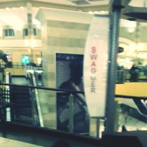 At the mall......