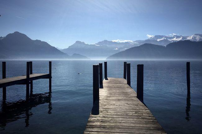 Water Lake Lucerne Switzerland Pond