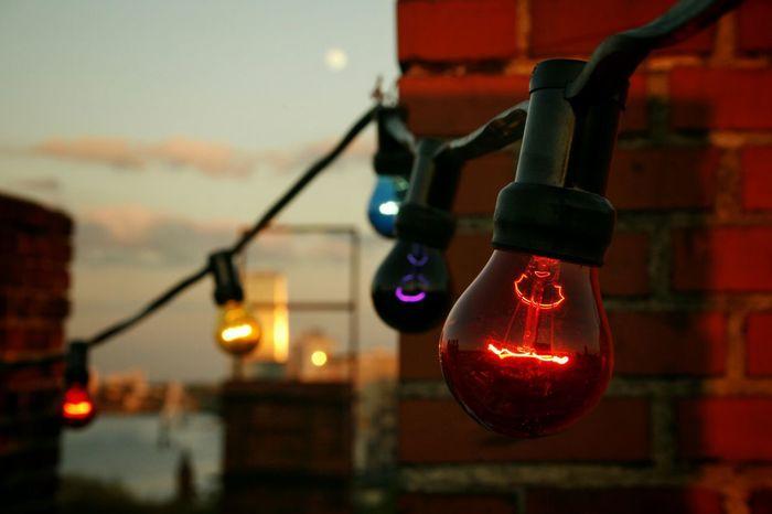 Rooftop Summertime Kreuzberg Light Bulbs