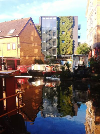 Little Venice Reflection Water Architecture Building Exterior Skyscraper Sky Outdoors City Built Structure No People Day Modern Cityscape Urban Skyline Boat