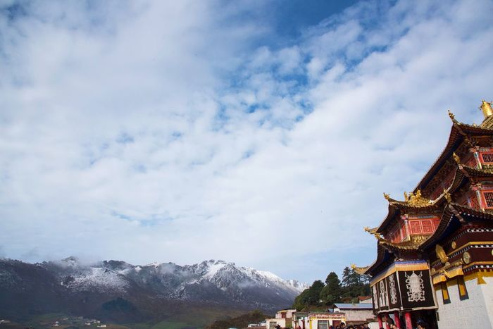 Langmu Temple Sky Religion Travel Destinations Architecture History Tourism Travel Cultures Cloud - Sky Outdoors Built Structure Day Roof No People