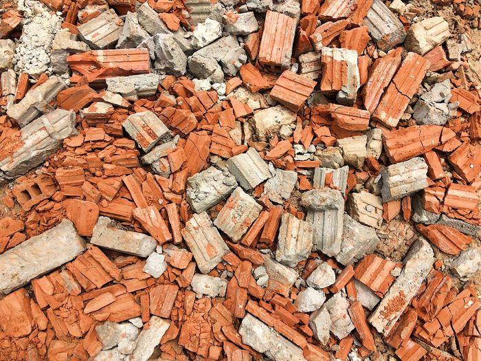 Full frame shot of rubble