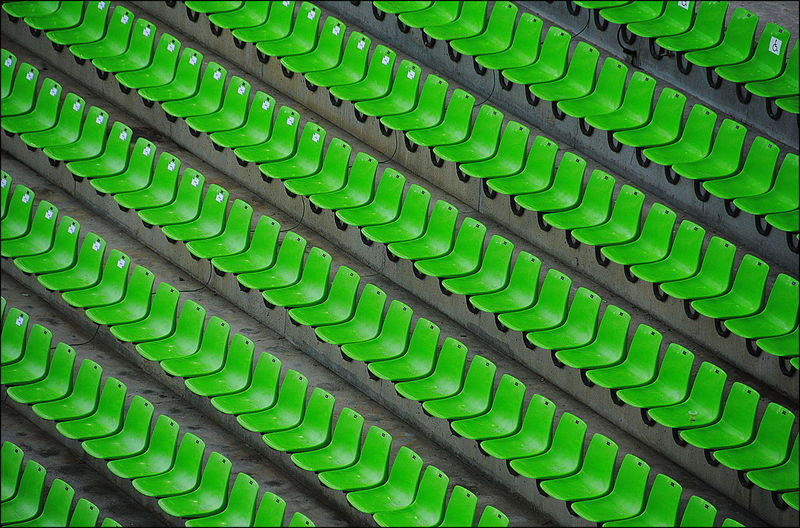 France Green Perspective Stade Backgrounds Chaise Full Frame Green Color In A Row No People