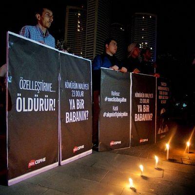 Göztepe Özgürlük Parkı Soma anması Somayıunutma Soma Somayıunutmaunutturma Katilpolis katilakp