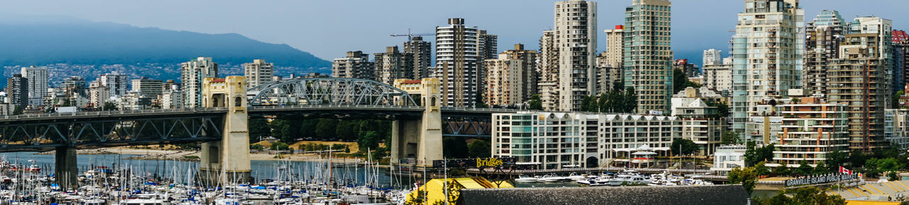 Canadian City City Life Cityscape Granville Island Modern Architecture North America Panorama Vancouver Architecture Bridge Canada City City View  Cityscape Day Landscape Modern City Mountain Outdoors Urban Landscape Urban Skyline Urban View Wide Angle