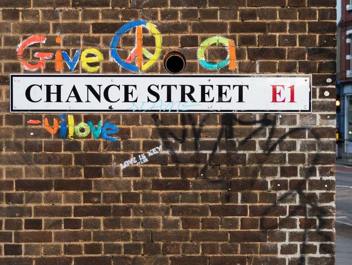 Take a chance Street Art Londonlife Wallart Wall Brick Wall Brick Shoreditch