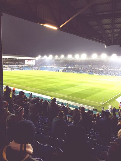 Elland Road Leeds Leedsunited Lufc Mot Football Stadium Night Floodlight