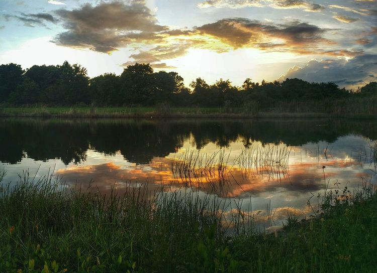 Beauty After The Storm Water Reflections Storm Clouds At Sunset Waterscape Amazing Clouds My Backyard Canvas Twilight Scene Light And Shadow Beauty In Nature Reflections And Shadows Art By Nature Abstract Photography
