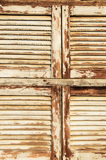 Backgrounds Close-up Closed Corrugated Iron Door Full Frame Lattice Outdoors Pattern Plank Ruin Textured  Weathered Window Wood - Material