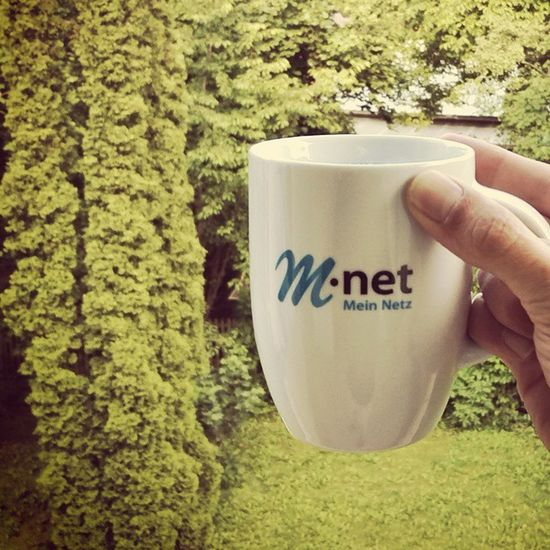 Today's home office Internet access & coffee is friendly supported by M-net! Mnet Coffeetweet ☕