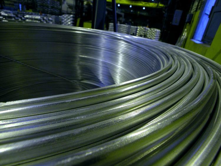 Russia, aluminum, aluminum wire, wire rod, nonferrous metallurgy Russia Russia россия Aluminum Aluminum Wire Close-up Day No People Nonferrous Metallurgy Outdoors Wire Rod