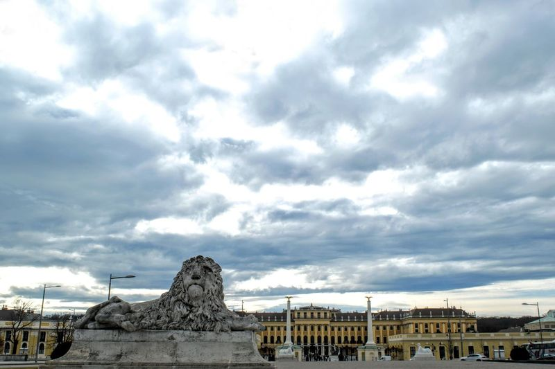 Austria Vienna Schönbrunn City Royalty Architecture Outdoors Day Sculpture Cloud - Sky Begginer Photography Castel Sky No People Architecture EyeEmNewHere Photo Pic Brunomphotography Austria Europe EyeEm New Here Building Exterior History Photography Inspirational