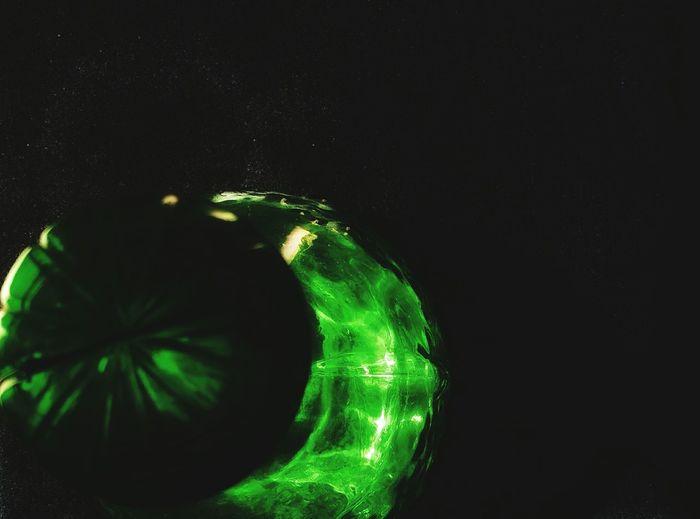 Green flask...