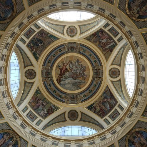 Backgrounds Place Of Worship Dome City History Pattern Ceiling Cupola Full Frame Directly Below Architectural Design