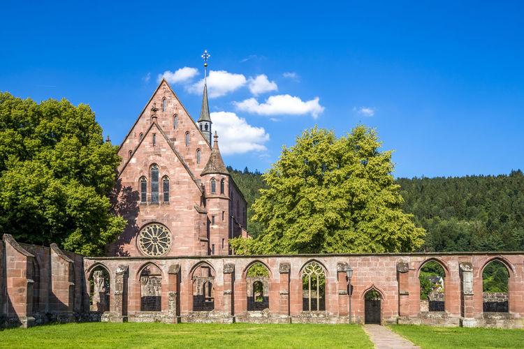 Hirsau abbey against sky on sunny day