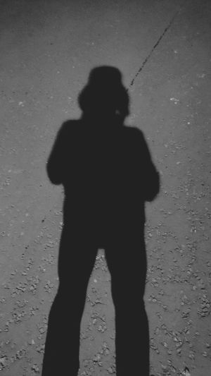 Shadow Focus On Shadow Silhouette One Person Mystery Yellow Adult Only Men Adults Only People Spooky Standing Horror One Man Only Men Night Halloween Outdoors Young Adult SonyZ5 Silhouette