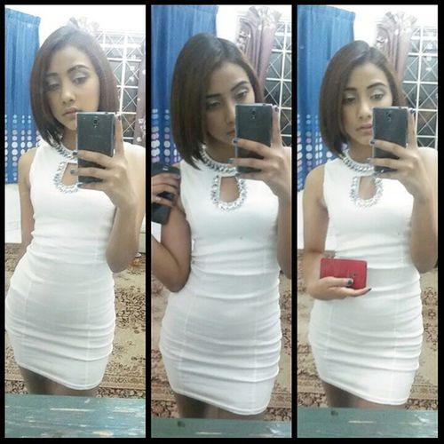 Love My Dress by Mirror E&E Fashion My Hair by Celeb Trends Toms Tan Nails by Nail Polish Paradigm Mall Nails Whitedress Mirror Celebtrendz kualalumpur nailpolish shorthair asian justjahnna sarawakian malaysian