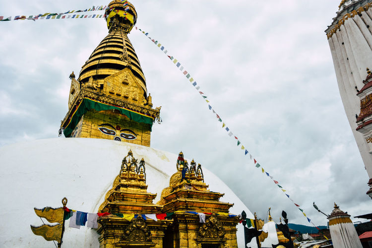 Architecture Buddhism Gold Gold Colored Low Angle View Nepal Outdoors Religion Spirituality Travel Destinations