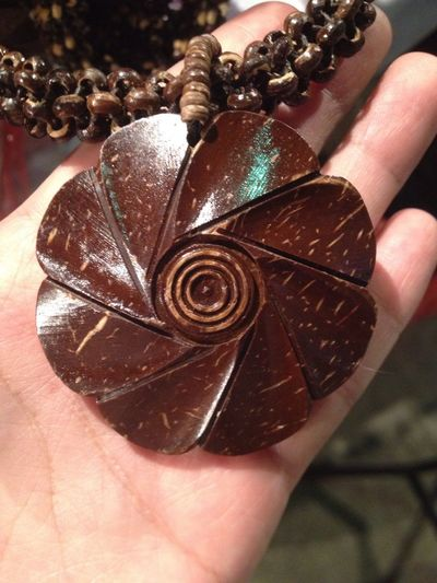 Coconut shell from thailand Coconut Coconut Tree Coconut Shell Native Local Neacklace Handmade Handmade Art Brown Otop  Thaistyle Thailand Beautiful Nature Beautiful Wood Made From Wood Flower Flower Collection Carve Carved Wood Carved In Wood Engrave