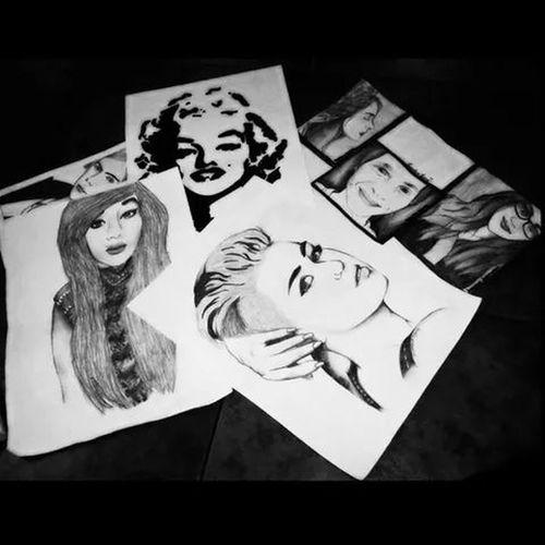 Art is life ?? Drawing Marylin Monroe Miley Cyrus