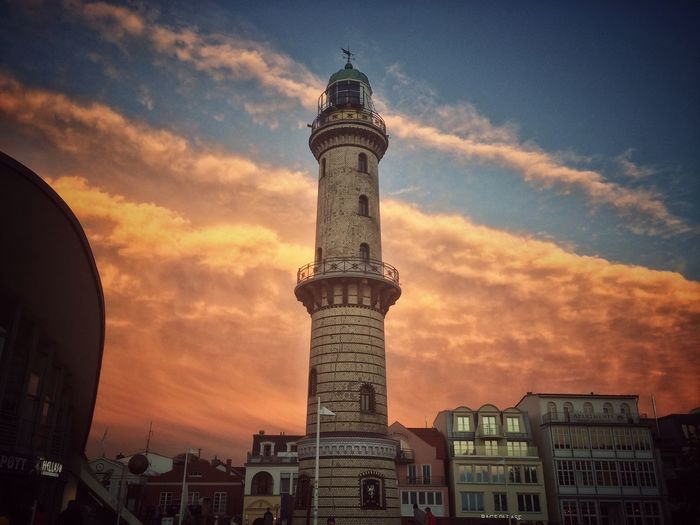 Amazing sky - I love it 🌅🌇 Rostock Lighthouse Clouds And Sky Cloudporn Snapseed Ostsee Warnemünde