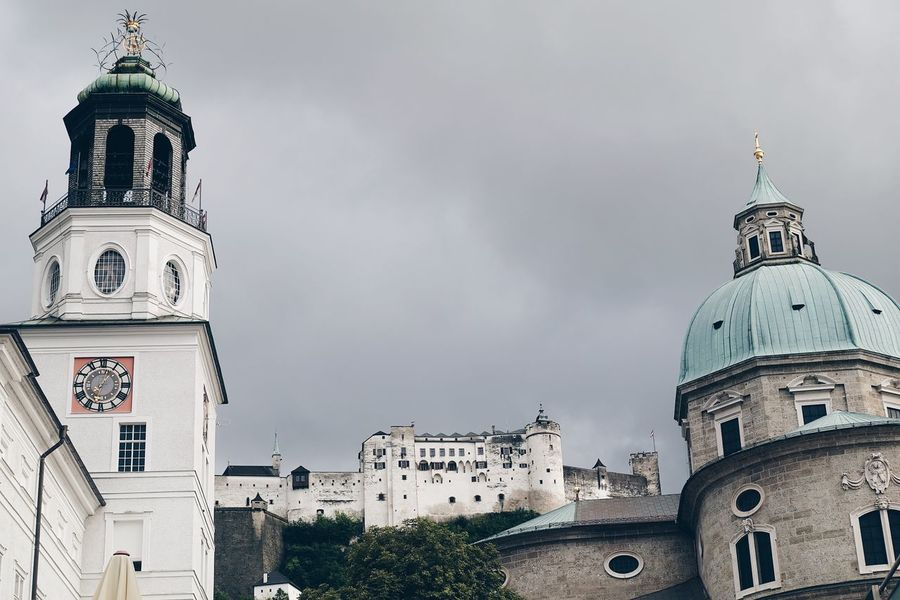 Architecture Castle Church City Cityscape Cloudy Life Low Angle View Spirituality View Weather Building Exterior Built Structure Clock Tower Cloud - Sky Dome Europe Gray Landscape Outdoors Sky Tourism Tower Travel Destinations White Been There. The Week On EyeEm
