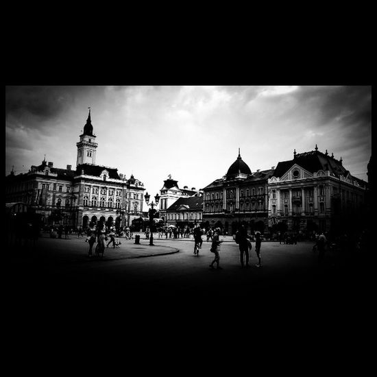 Center of Novisad and a Bunch of a People . Miletic 's here somewhere .... Blackandwhite Instablackandwhite Bw_photooftheday Art Beautiful Picoftheday