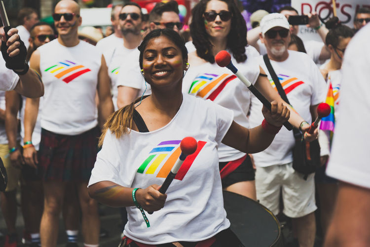 LGBT Pride Parade in London, UK. 2017 LGBT Parade LGBTQ Rights London Press For Progress Protest Sunny Celebration Crowd Day Equality Flag Flags Gay Journalism Lgbt Lgbt Pride March People Pride Pride2017 Prideparade Protesters Rainbow Spectator Togetherness Stories From The City Love Is Love