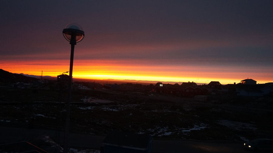 Sunset Sunset_collection Sunset Silhouettes Sunset #sun #clouds #skylovers #sky #nature #beautifulinnature #naturalbeauty #photography #landscape Ilulissat Ilulissat Icefjord The Real Greenland This Is Greenland Sky Street Light Nature No People Scenics - Nature Orange Color Landscape EyeEm Nature Lover EyeEm Best Shots EyeEm Best Shots - Nature