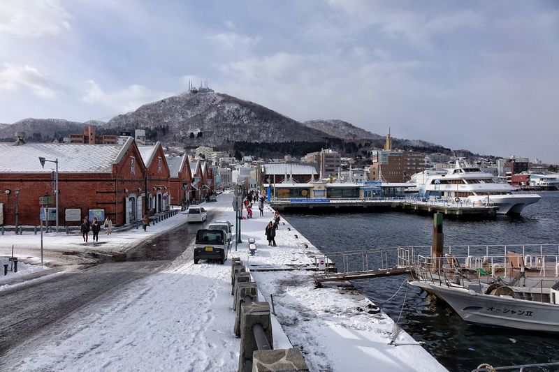 Built Structure Architecture Sky Outdoors Nature Cold Temperature Scenics Winter Snow Mountain Hakodate