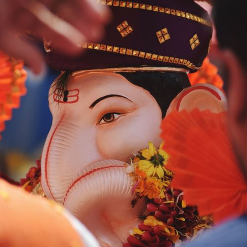 EyeEm Selects Ganpati Portrait Close-up Outdoors Day