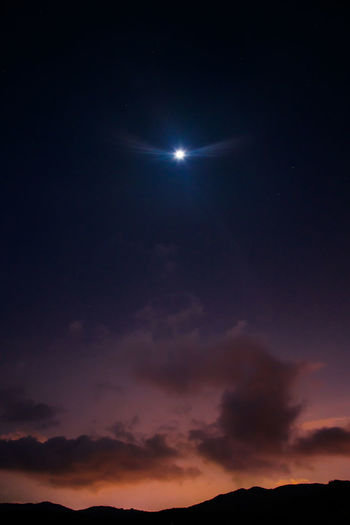 Night Dramatic Sky Scenics Nature Moon No People Sky Outdoors Astronomy Landscape Red Space Beauty In Nature Multi Colored Star - Space Constellation Galaxy