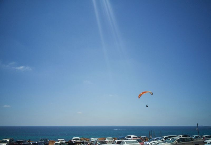 Leisure Activity Sky Nature Extreme Sports Flying Paragliding Vacations Outdoors Lifestyles Beach Scenics Landscape Motion Adventure Sport Sea People Parachute Day Beauty In Nature EyeEm Team Summer Beach 😎 Sommergefühle Summer Exploratorium