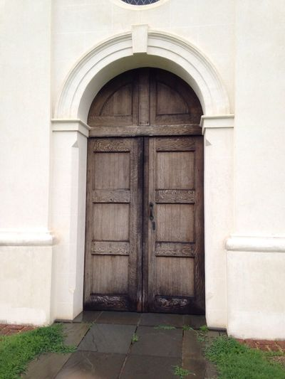 This Old Church 2/2. This is the front door to this Historical Building which has been standing (with modifications) since the late 1600s. Something Green Friday Church Door. And I Certainly Cannot Enter