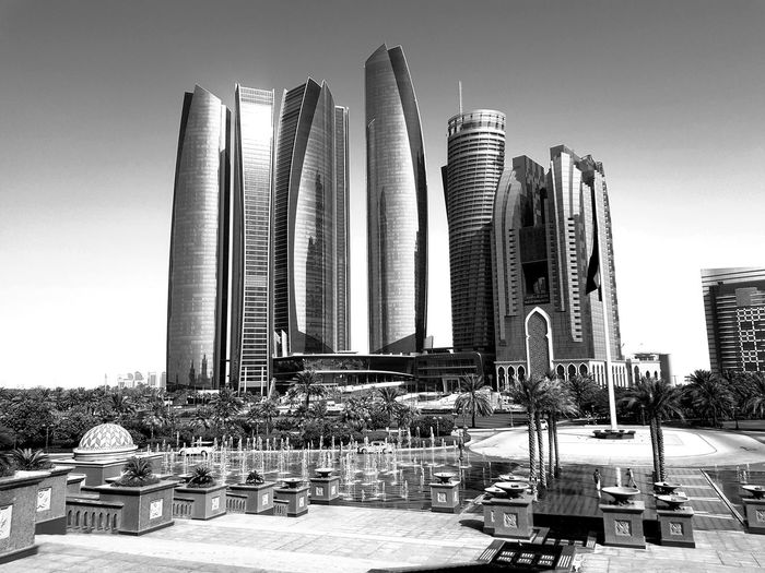 Architecture Sky Built Structure Skyscraper No People Outdoors Modern Cityscape Downtown District Second Acts Reflection Building Exterior Urban Skyline Architecture Black And White Friday