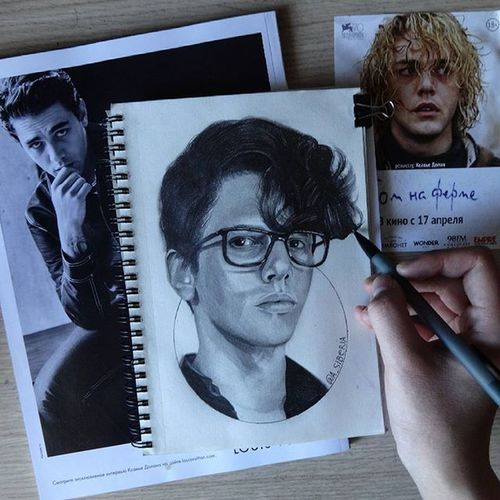 Very talanted Xavier Dolan Art ArtWork Art, Drawing, Creativity Portrait Xavier Dolan Director Art Gallery Draw Portrait Of A Man  Drawings Esquire MOVIE First Eyeem Photo