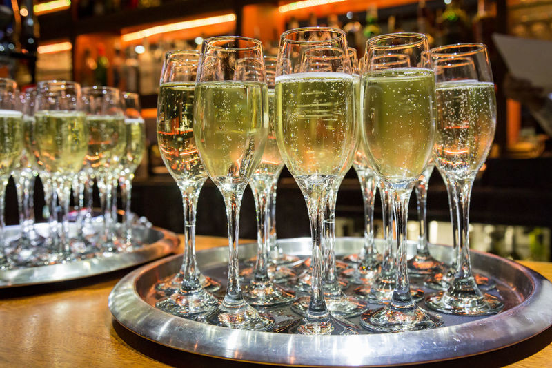 Filled Champagne Glasses Alcohol Alcoholic Drink Celebration Champagne Champagne Flute Close-up Day Drink Drinking Glass Food And Drink Freshness Indoors  Large Group Of Objects Liqueur No People Refreshment Table Wine Wineglass