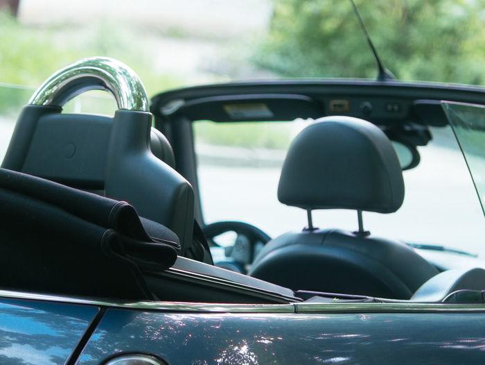 Close-up of convertible car