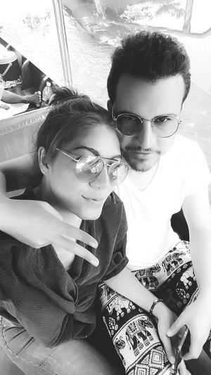 Two People Togetherness Couple - Relationship Romance Looking At Camera Love Taking Photos Beautiful People Hello World Real People Smart Girl Holiday