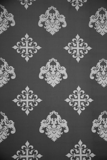 Vintage Wallpaper - Historic Pattern from 18th century Ancient Backgrounds Christmas Design Drawing - Art Product Fleur De Lys Full Frame Gray Grey Ice Crystal No People Nostalgia Old Pattern Repetition Retro Retro Styled Snowflake Symmetry Tapestry Textured  Variation Vintage Wallpaper Winter