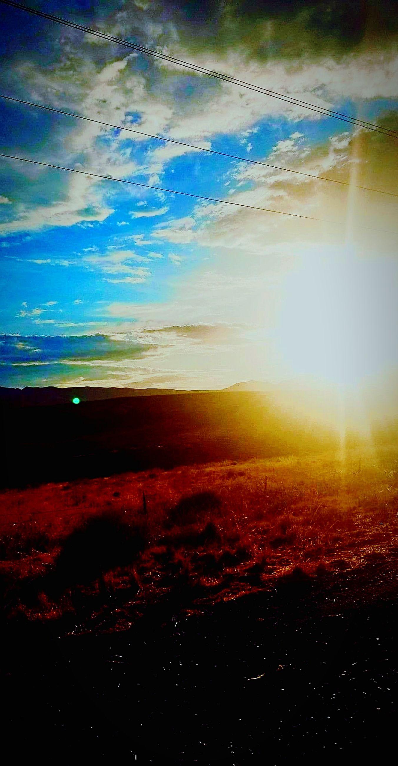 sky, cloud - sky, tranquil scene, scenics - nature, tranquility, environment, beauty in nature, landscape, nature, sun, no people, sunlight, sunset, outdoors, non-urban scene, idyllic, horizon, land, horizon over land, lens flare