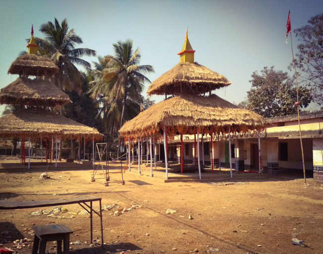 Structure Odishatourism Odisha Art Religious Place Tree Sand Outdoors Day Sky No People Nature Palm Tree Thatched Roof Architecture