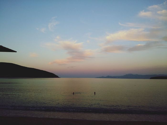 Skyandclouds  Skyporn Cloudporn Clouds And Sky GREECE ♥♥ Kavala Beachview Wonderful Seaview Sunset @ Kavala In Greece