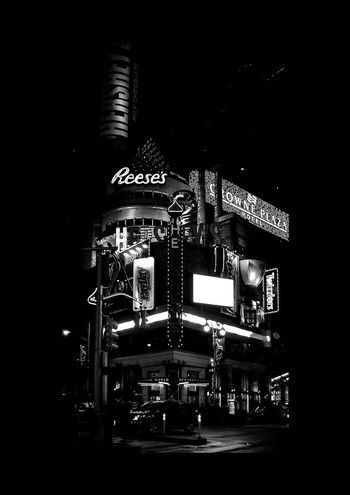 Street Corner Nopeople New York City USA Winter Blackandwhite Streetphotography Building Architecture Light And Shadow Night Neon Lights Technology Arts Culture And Entertainment Music Mother Board Musical Instrument Close-up Record