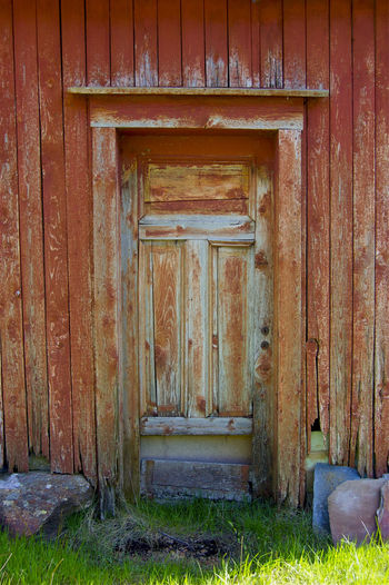 Abandoned Architecture Bad Condition Closed Closed Door Deterioration Door Doorway Entrance House No People Norway Norweigian Old Old Buildings Peeling Paint Ruined Sunny Day Wall Wood Wood - Material Wooden