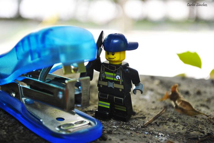 Trabajando... Casa Cotidiano Juguete Lego Minifigures Macro Nikon Photography Toy