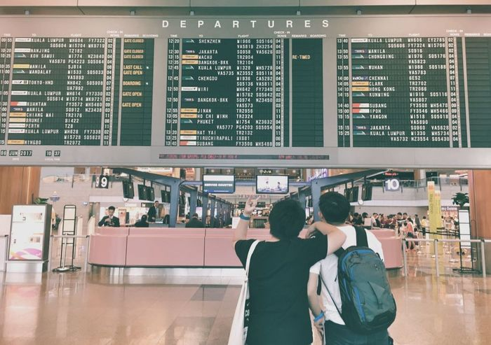 """Goodbyes are not forever. Goodbyes are not the end. It simply means """"I'll miss you and until we meet again."""" See you soon, little bruhder! Singapore Changi Airport Two People Departure Hall Perth Australia"""