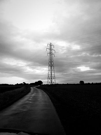 Blackandwhite Power Lines Pylons Pylonporn