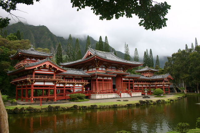 Architecture Building Exterior Built Structure Cloud - Sky Mountain Place Of Worship Sky Temple Temple - Building Tranquility Tree Water