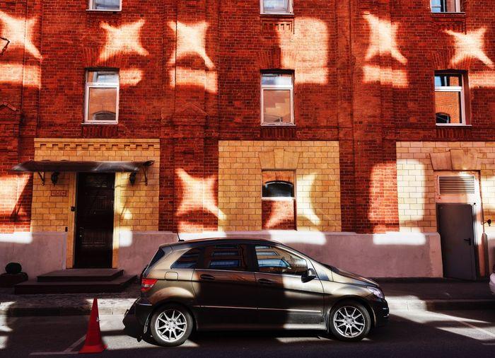 Car Brick Wall